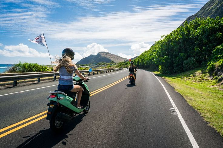 Rent a late model, easy to use single person moped, two person scoot coupe moped or a two person motor scooter in Waikiki from Hawaii's favorite moped shop.