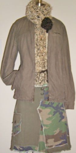 Urban Outfitters STANDARD CLOTH Brown Distressed Linen Cotton Casual Jacket