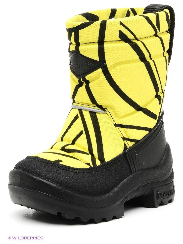 Сапоги KUOMA. Цвет желтый, черный.