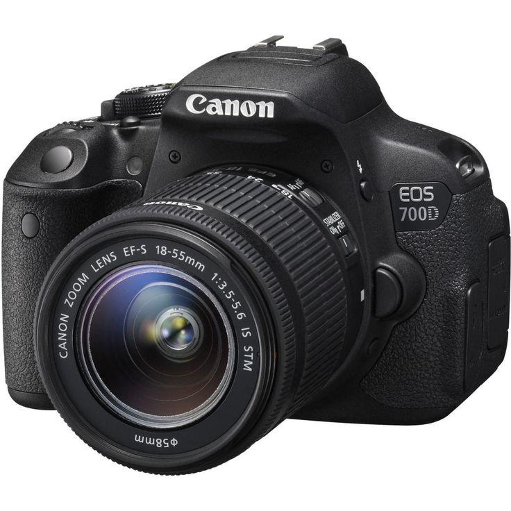 CANON EOS 700D Spiegelreflexkamera F/3,5-5,6 18-55 mm IS STM 18 MP CMOS schwarz