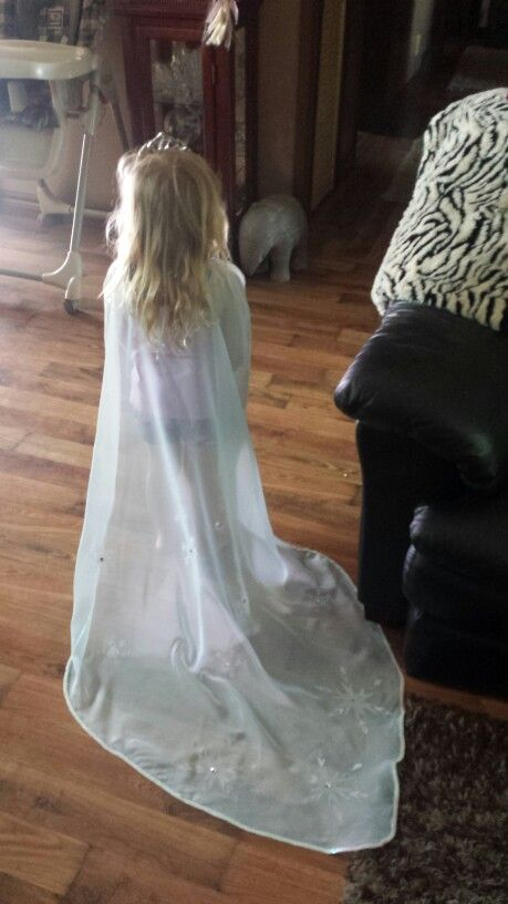 Elsa cape made for a friend's daughter.