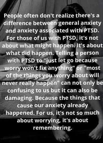June is PTSD Awareness Month - The things that cause our anxiety already happened. For us, it's not about worrying, it's about remembering.
