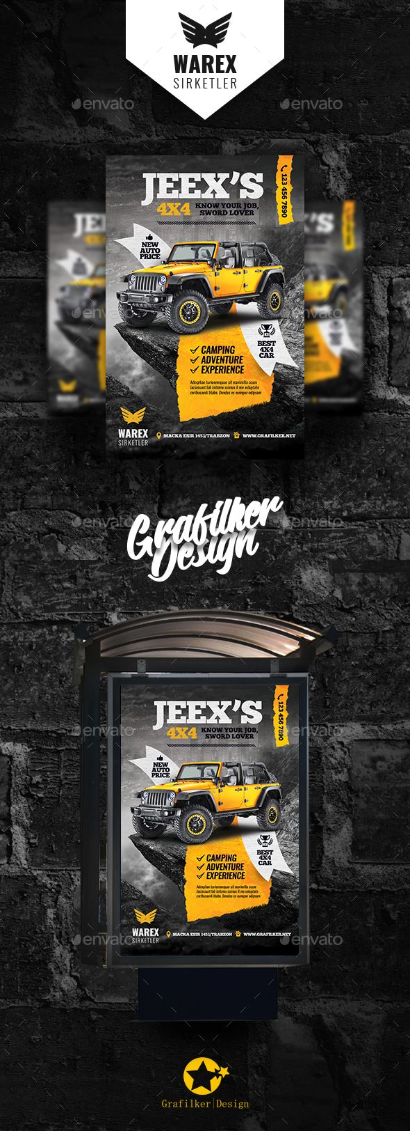 Off-Road #Adventure #Poster #Templates - Signage Print Templates