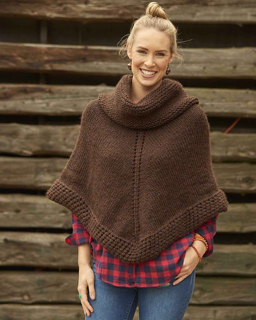 Ravelry: Getaway Poncho pattern by Melissa LaBarre | Super-bulky wt.