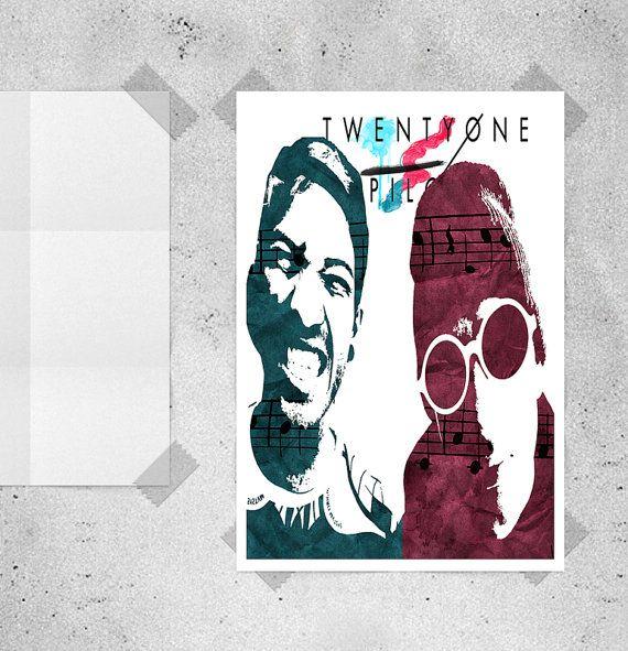 Twenty One Pilots, Twenty One Pilots Poster, 21 Pilots Fan Art, Skeleton Clique, Blurry Face, 21 Pilots, Tyler and Josh, Instant Download.