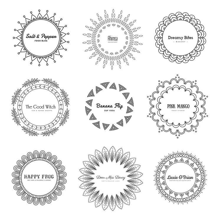 Free Mandala #Logos #freelogos #freepsd
