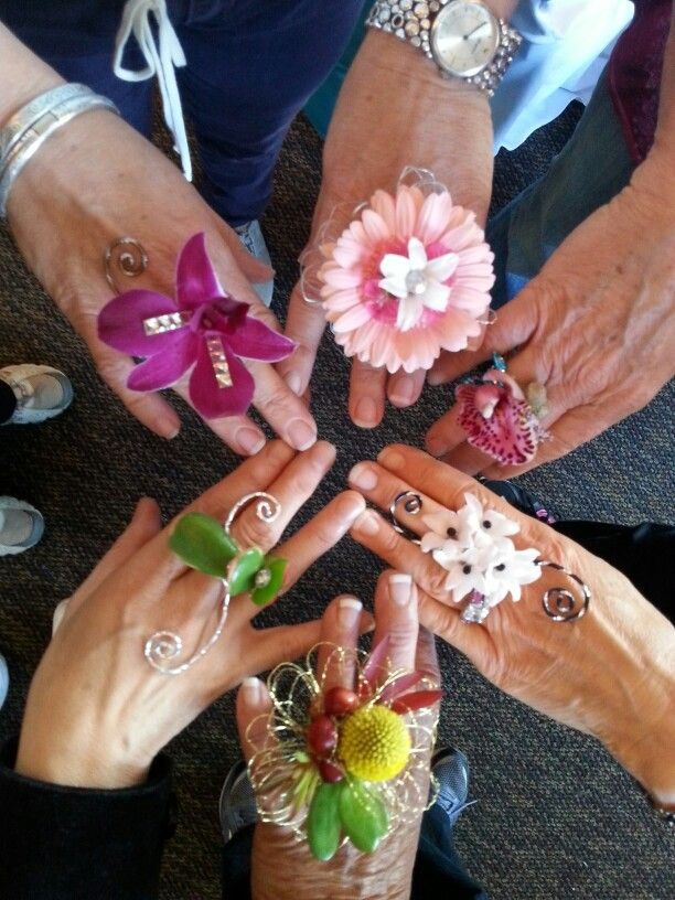 Flower rings for prom and wedding