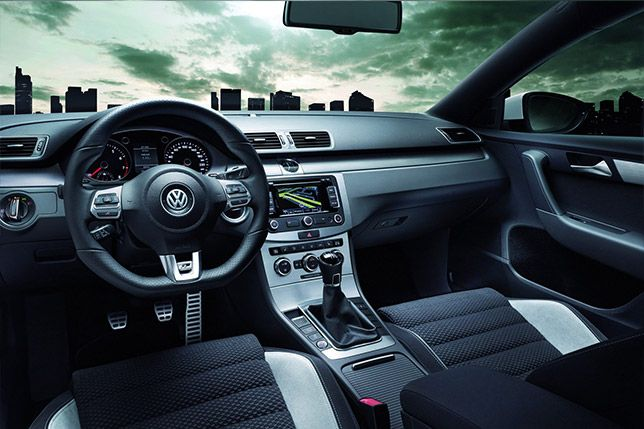 Interior of the new Passat R-Line. We love those smooth lines of the centre console.   #volkswagen #vw #cars