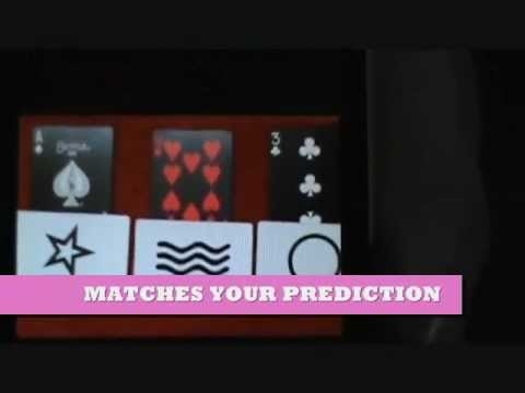 3 random cards are marked with symbol cards which match your prediction.