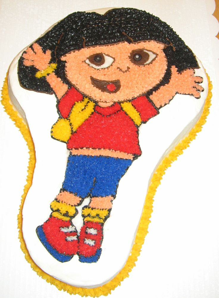 Dora The Explorer From Wilton Cake Pan Cakes By Me