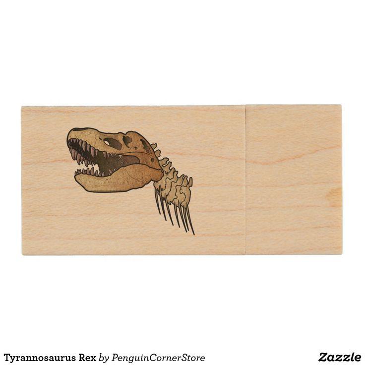 Tyrannosaurus Rex Wood USB Flash Drive