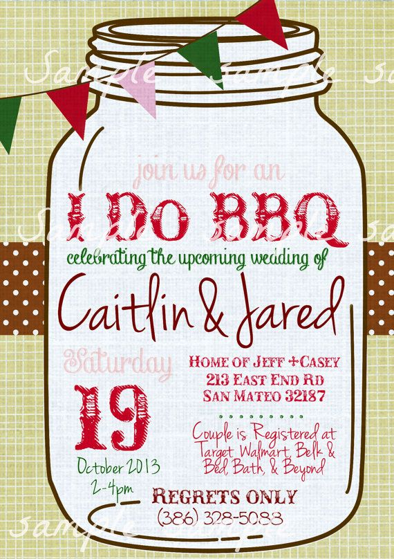 32 best I DO BBQ Invitations images on Pinterest | Couple shower ...