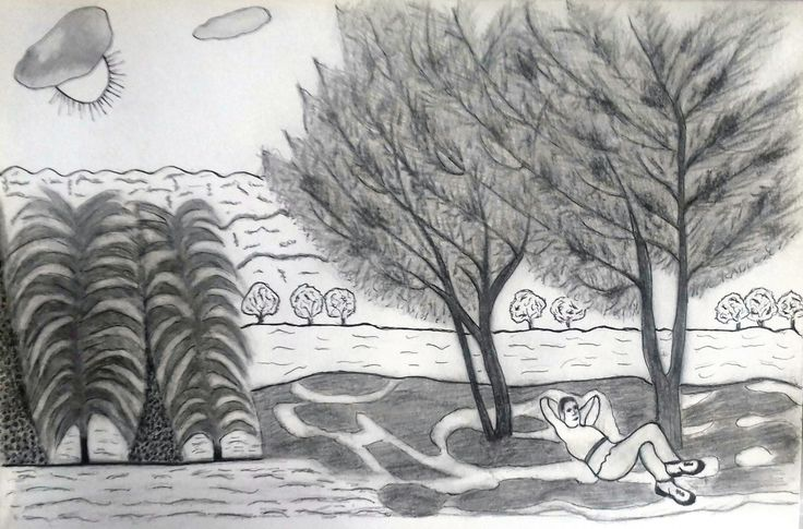 Illustration. Pencil drawing.