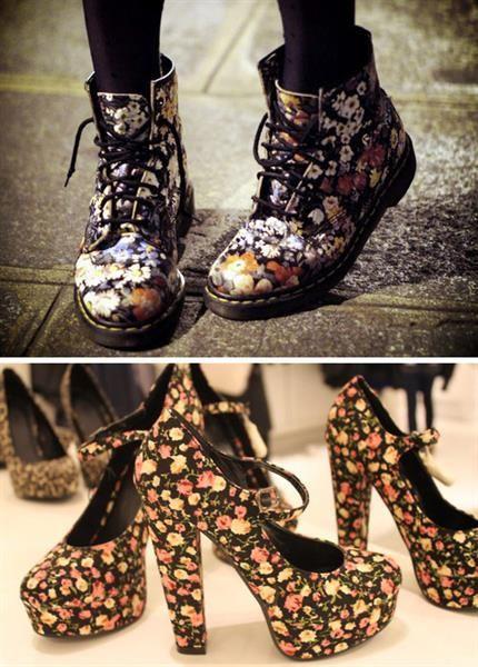 Купить обувь в цветы
