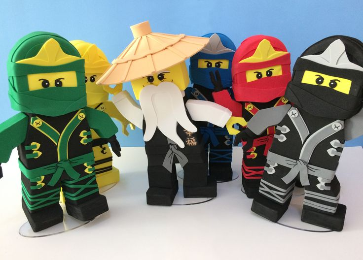 Resultado de imagem para como fazer boneco lego ninjago em papel