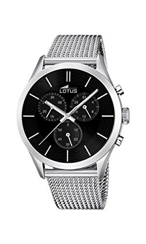Lotus 18117/2 - Reloj de pulsera hombre, Acero inoxidable, color Plateado