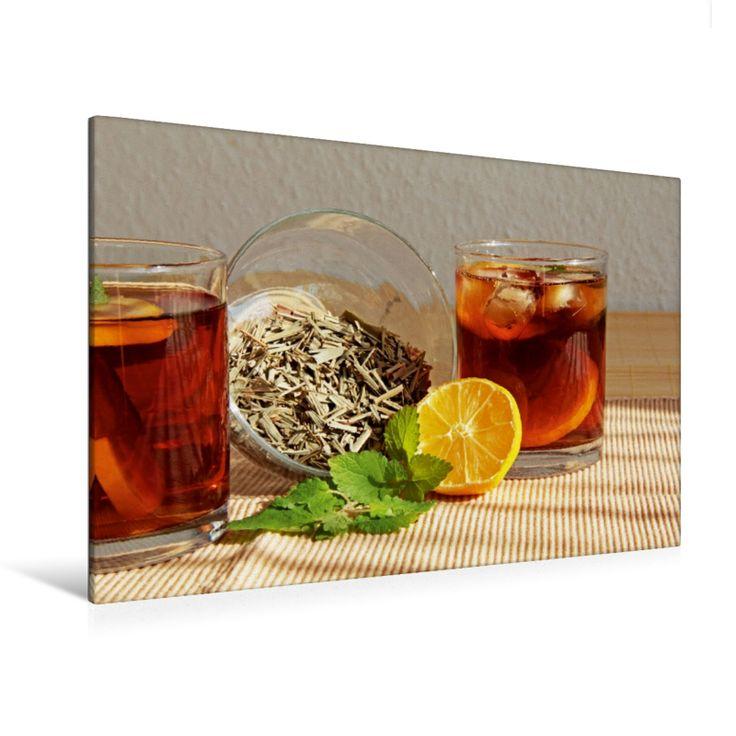 Zitronengras-Eistee (Premium Foto-Leinwand 45x30 cm, 50x75cm, 60x90 cm, 80x120cm)