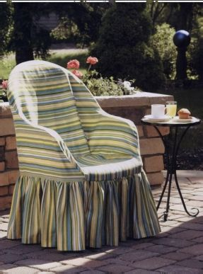 Free pattern for resin chair slip cover. Sewing For Outdoor Spaces: Easy Fabric Projects For Porch, Patio, Deck, And ... - Carol Zentgraf - Google Books
