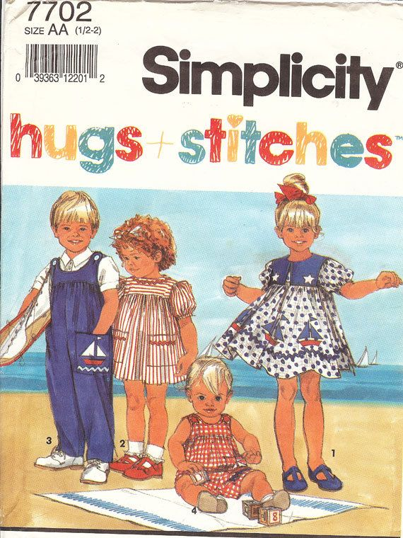 Vintage Sewing Pattern Simplicity Toddler's Sewing by NookCove, $4.49