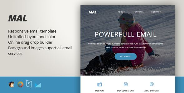 Malorum - Responsive Email + StampReady Builder - Newsletters Email Templates