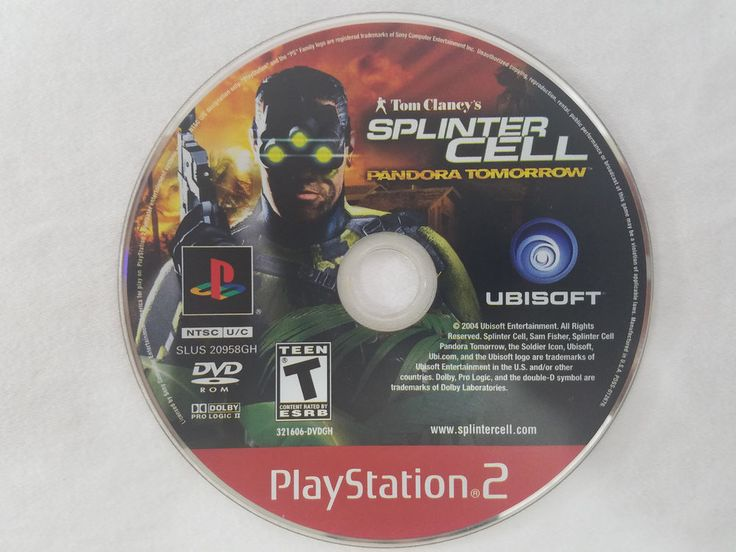 Tom Clancy's Splinter Cell: Pandora Tomorrow PS2 PlayStation 2 Disc Only Tested