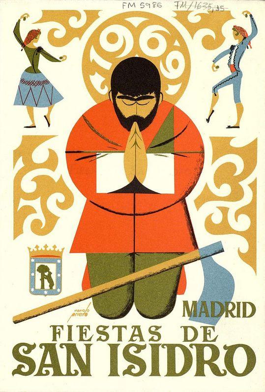 Spanish Poster by Manolo Prieto, 1969, Fiestas de San Isidro, Programa Oficial…                                                                                                                                                                                 Más