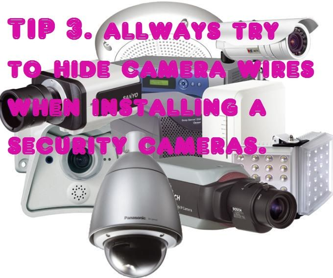 when installing wireless surveillance camera systems always try to hide the wires to be hidden from people. http://www.securityinvisible.com/complete-surveillance-systems/8-channel-wireless-dvr-complete-system-with-monitor.html
