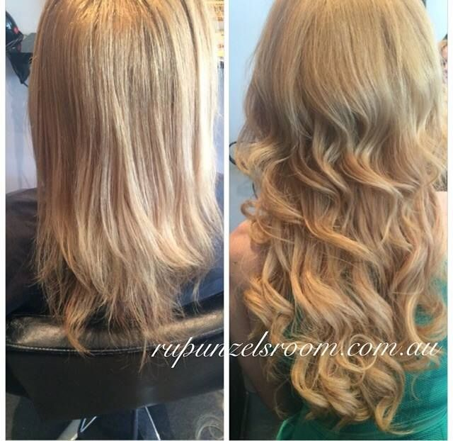 Before and After Hair Extensions from Rupunzals Room