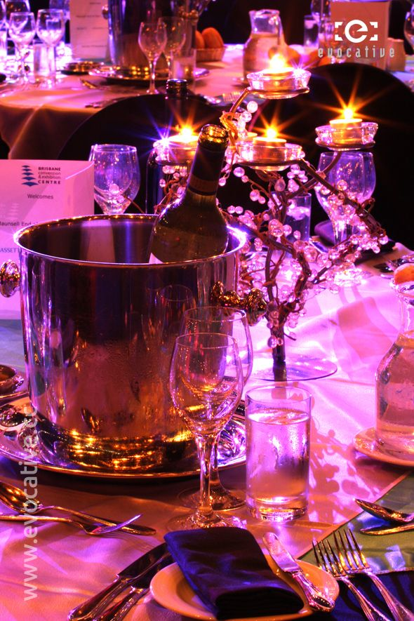 stunning candle holders really set the scene for the maunsell aecom gala dinner masquerade weddinggala