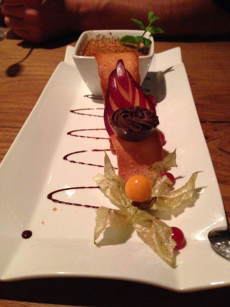 Dessert im Restaurant FISCHER in Inning am Ammersee. Lust Restaurants zu testen und Bewirtungskosten zurück erstatten lassen? https://www.testando.de/so-funktionierts