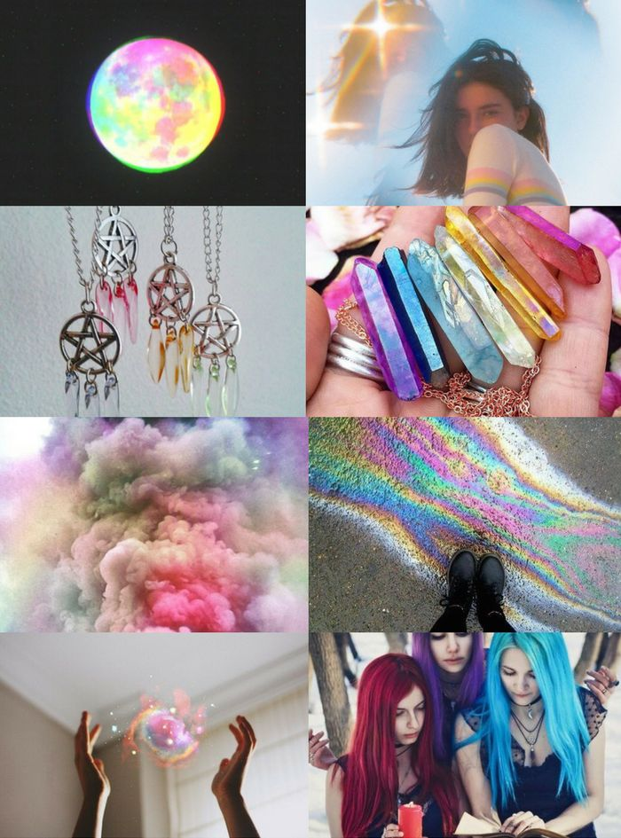 """Witch Aesthetics // Rainbow Witch  """"Requested  """"  Chaos Witch   Seaside Witch   Divination Witch   Storm Witch   Scent Witch    Circus Witch   Blood Witch   Writer Witch   Spirit Witch   Jazz Age Witch"""