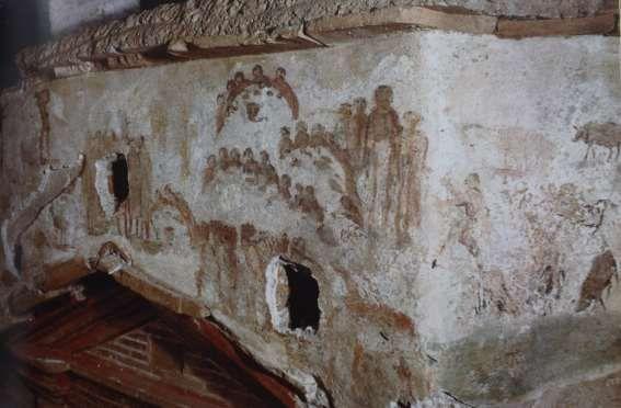 Complesso delle catacombe di S. Sebastiano, Roma. III-IV secolo. (foto tratta da BISCONTI, 2011. © foto Pontificia Commissione di Archeologia Sacra)