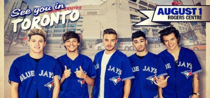 $119 for a Level 500 Ticket OR $209 for a Level 100 Ticket for One Direction at the Rogers Centre - Choose from 2 Dates