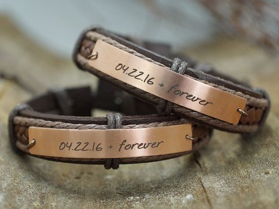 Matching Couple Bracelets for Friendship Best by TimArtCreations