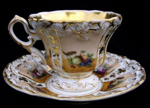 Gilt tea cop and saucer