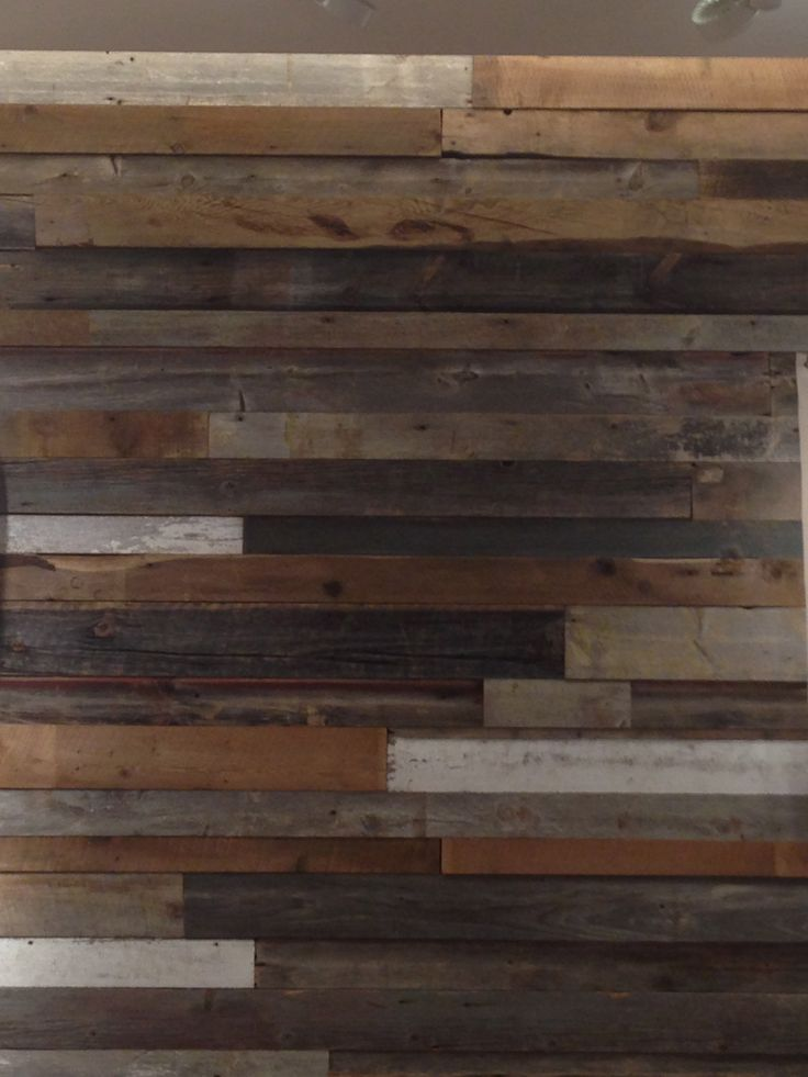 Distressed Wood Wall Multi Colored Cantina Style