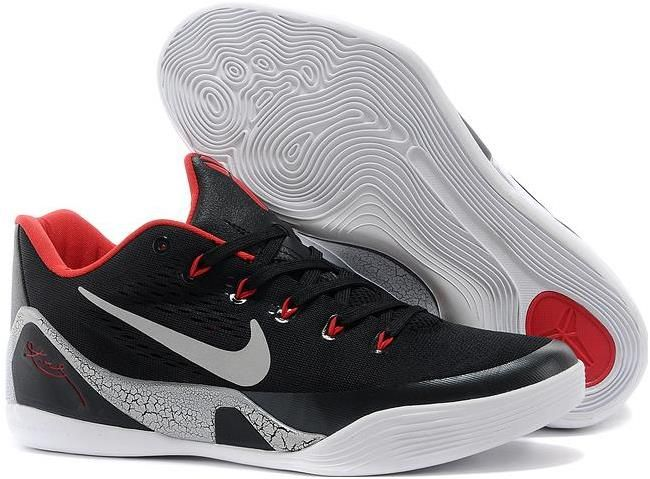Nike Zoom Kobe 9 EM Black Laser Crimson Wolf Grey, cheap Kobe 9 Men, If you  want to look Nike Zoom Kobe 9 EM Black Laser Crimson Wolf Grey, ...