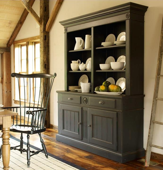 Like The Dark Grey Hutch And Can Put My Grandmas White Dishes On It Dining