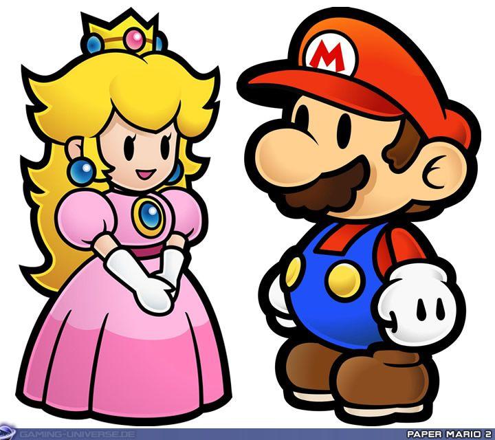 Mario and Princess Peach  My sweet little baby princess :)