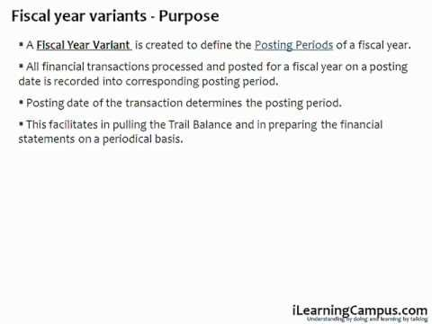 Chapter 5 - SAP ERP FICO - Fiscal Year Variant