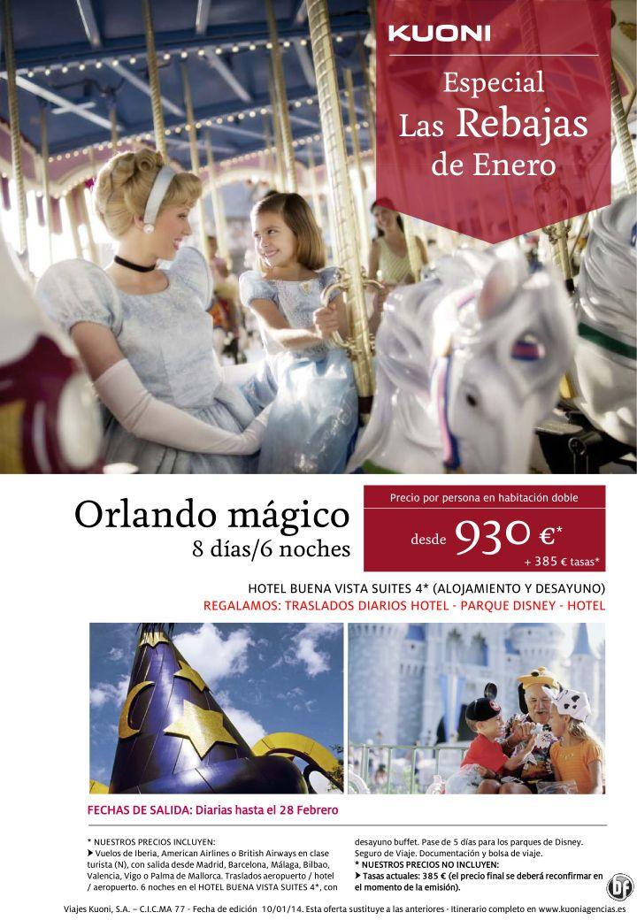 Las Rebajas de Enero - Orlando mágico 8 días/6 noches desde 930 € + tasas ultimo minuto - http://zocotours.com/las-rebajas-de-enero-orlando-magico-8-dias6-noches-desde-930-e-tasas-ultimo-minuto/