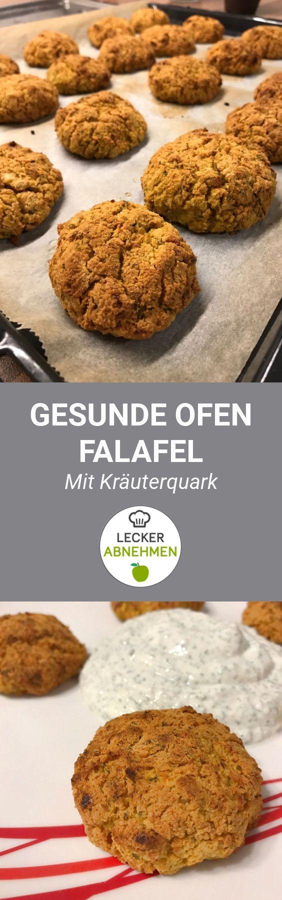 Falafel auf die gesunde Art und Weise. Nämlich nicht frittiert, sondern aus dem Ofen. Zu den Falafel gibt es einen leckeren Kräuterquark.