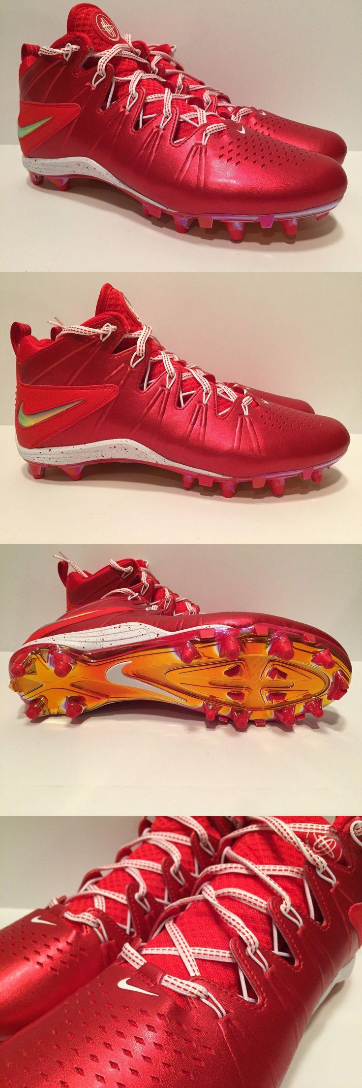Footwear 159154: Nike Huarache 4 Lax Lacrosse Cleats, Size 10, Red, 624978-601 -> BUY IT NOW ONLY: $44.99 on eBay!