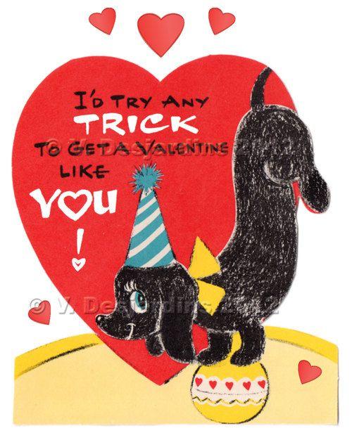 41 best Vintage Doxie Valentines images – Vintage Valentine Cards to Print