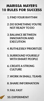 10 Rules for success: Marissa Mayer