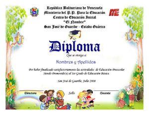 Plantilla Para Diplomas Infantiles Comentarios Y Fotos Tattoo Designs                                                                                                                                                                                 Más