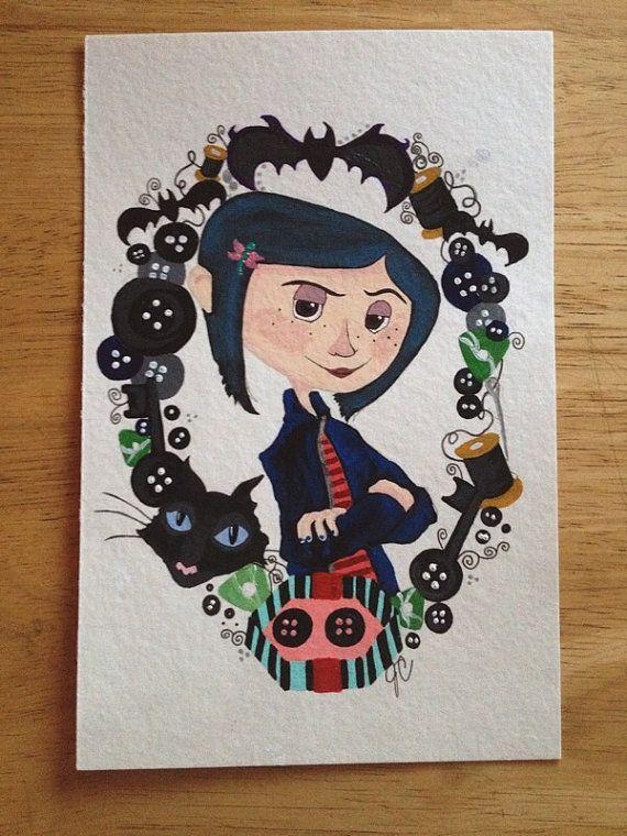 Coraline Jones painting by InsideMySketchbook on Etsy