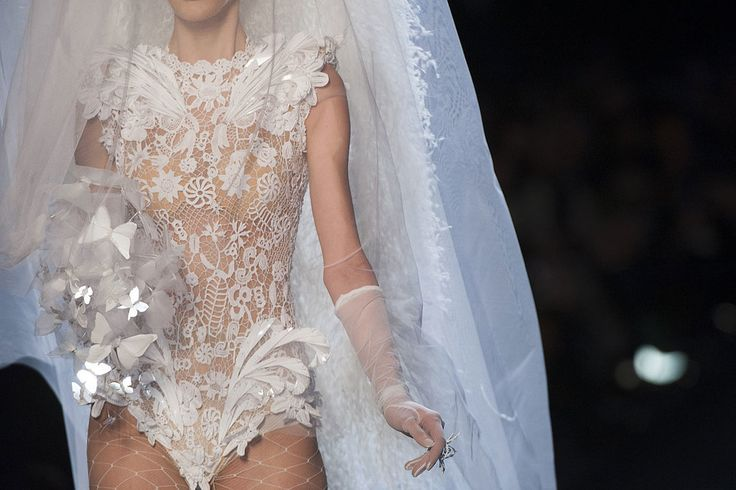 A wild bridal look at Jean Paul Gaultier Haute Couture