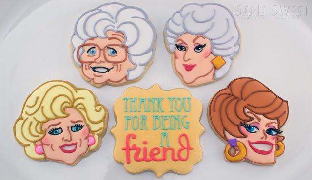 I sooo wish I had the talent to make these and give them to a friend... Golden Girls Thank You Cookies!
