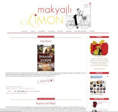 Benim Tutkum - Kozmetik ve Bakım Hakkında Herşey: Makyajlı Limon - Blog Şablon Tasarımı